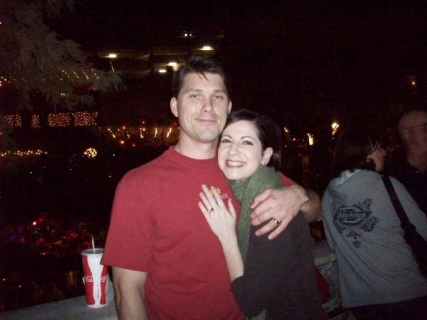 Chris with his lovely wife, Melanie.