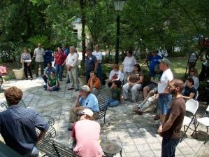 group courtyard