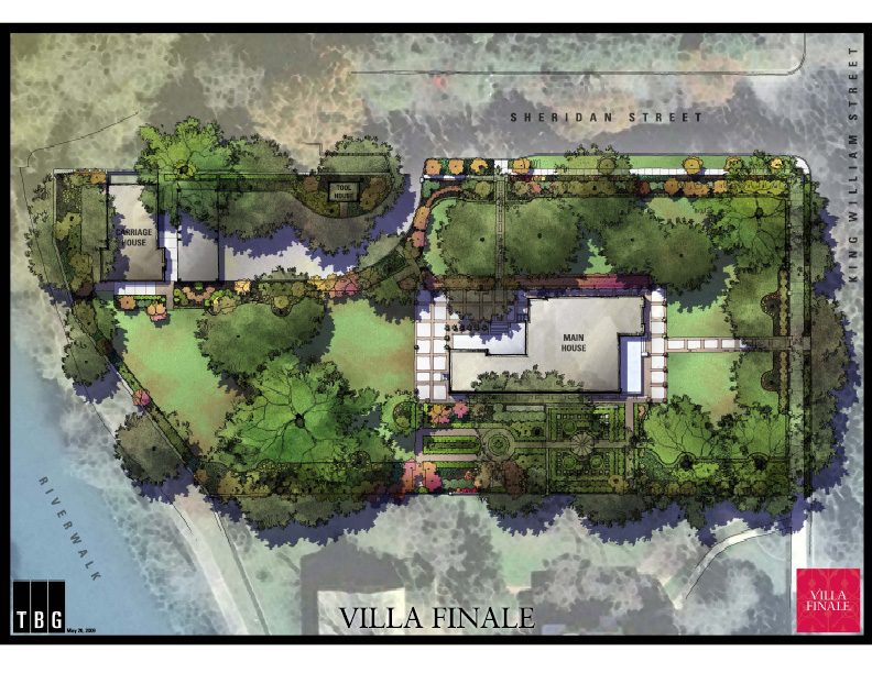 Villa finale for Landscape villa design