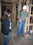 Former Buildings and Grounds Manager, Chris Roddy shows me progress at the Visitor Center, early 2009.